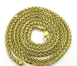 "wheat chain filled UK - 26"" Inch 7 Grams 2.5mm 10k Yellow Gold Wheat Spiga Chain Necklace Mens Ladies"