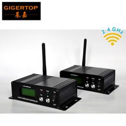 Dmx 512 Wireless Controller NZ - 2pcs lot Wireless DMX 512 Receiver Transmitter Controller 2.4G wireless DMX512 Lighting Controller DMX512 Free shipping!! TP-D23