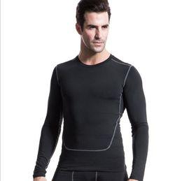 $enCountryForm.capitalKeyWord Canada - Skin Tight Compression Base Layer Black Running Top Long Sleeve Thermal Gym Sports Shirt