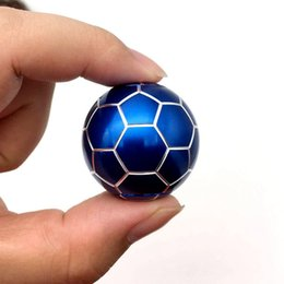 Juggling balls free shipping online shopping - Newest generation alloy Hand Football Spinner finger toys finger tip spinner decompression toy DHL SF Express