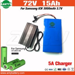 72v charger Australia - 72v Battery 15Ah 1500w for Samsung 3000mAh 18650 Cell e Bike Battery with 5A Charger Electric Bicycle Battery 72v Free Shipping