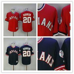 bf5196aeb92 ... MLB Flexbase Collection Cleveland Indians 20 Frank Robinson Retro Navy  Blue Red Vintage Baseball Jerseys Wholesaler in China Size ...