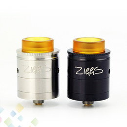 Discount gold drip tip wide bore Original Advken Ziggs RDTA 2.5ml with Wide Bore PEI Drip Tip 24K Gold Plated Contact Pin Vaporizer Atomizer DHL Free