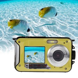 shoot video NZ - Wholesale-New Digital Camera Duble Screen HD 24MP Waterproof Digital Video Cam 1080P DV 16X Zoom US EU AU UK Plug