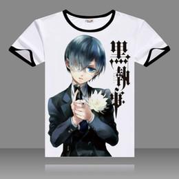 96f3cd94a 2017 T-shirts Black Butler Cosplay T Shirt Black O-Neck Short Sleeve  Costumes Ciel Print Tops Sebastian Casual Summer Tees