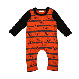 2017 New Baby Clothes Cotton Newborn Clothes Striped Pumpkin Print Long Sleeve Romper Jumpsuit Halloween Costume Baby Boy Romper Baby Onesie  sc 1 st  DHgate.com : newborn halloween costumes uk  - Germanpascual.Com