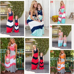 Discount plus size mother daughter matching clothes - Plus Size Mother and Daughter Matching Dress 2017 Summer Striped Cotton Mother and Daughter Clothes Cotton Vest Dress Fa