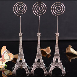 $enCountryForm.capitalKeyWord UK - DHL free shipping 100pcs wedding gift 16.5cm Paris Eiffel Tower Brozen Place Name photo Business Card Holder message board clip
