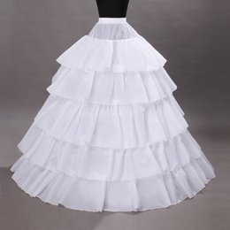 Hoop petticoats underskirts online shopping - 5 Hoops Petticoat Crinoline For Ball Gown Wedding Prom Party Dresses Petticoat Underskirts Slips Bridal Accessories110 cm Diameter