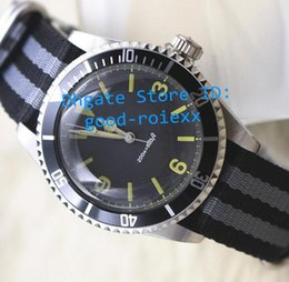 Antique vintAge cerAmic online shopping - Vintage Mens Watches Men s Watch Men Classic Style Automatic Auto Date Special Black Dial Nato Fabric Strap Sport Dive AAA Wristwatches