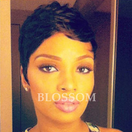 wig black bangs african american 2019 - New Human Black Hair Bob Wig With Bangs Straight Bob Wig For Black Women African American Celebrity Glueless Full Wigs d