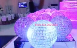 Wholesale new arrival latest sell ball only new flower wedding crystal centerpieces table candelabra glass crystal flower floral stand
