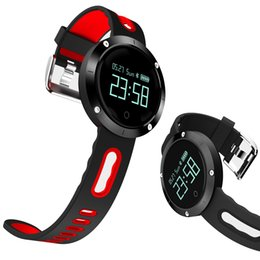 waterproof bluetooth smart watch wristwatch NZ - Sports Smart Watch for Swimming IP68 Waterproof Bracelet Heart Rate Monitor Bluetooth Smart Band Pedometer DM58 Wristwatch Touch Display