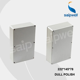 Wholesale-222*145*78mm Size Industrial Waterproof Aluminium Box   Electrical Aluminium Enclosure With CE,ROHS from aluminum box enclosures project suppliers