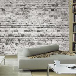 discount 3d grey brick wallpaper | 2017 3d grey brick wallpaper on