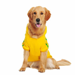 bd42999931b Big Dog Clothes for Golden Retriever Dogs Large Size Winter Dogs coat Hoodie  Apparel Clothing for dogs Sportswear 3XL-9XL