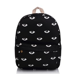 3adc591a66ed Teen Backpacks Canada - Wholesale- Harajuku Good Quality Black Eyes Backpack  Fashion Campus School Bag