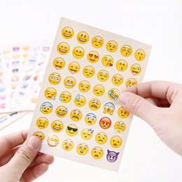 Discount cute stickers for phone - PVC Emoji Sticker Cartoon Cute Smile Angry Paster For Mobile Phone Diary Decoration Stickers Hot Sale Gifts 0 12jd B