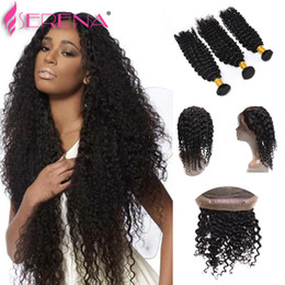 Discount full lace front closure virgin hair - 360 Lace Virgin Hair Lace Frontal Hair Pieces 360 Front And Back Lace Frontals 7A Brazilian Deep Wave 360 Full Frontal C