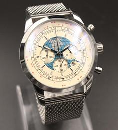 Men White Stainless Watch NZ - Special Edition Quartz-Watch Men Analog With Calendar White Dial Platinum Case & Skeleton Stainless Steel Band Fashion Digital Watch