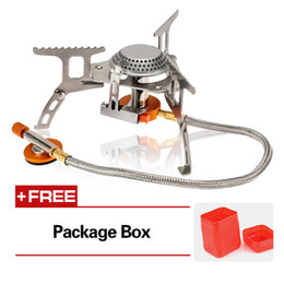 Discount gas hoses - Ultra-light Folding Portable Outdoor Camping Gas Cooking Stoves Ceramic Piezoelectric Butane Split Stove Burner Air Furn