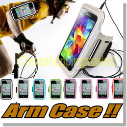 Armbands Mobile Phone Accessories 100pcs Armband Case Sport Running Cases Exercise Key Holder Water Resistant For Iphone X 6 7 8 Plus Lg G6 G5 Galaxy S8 S7 S6