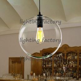 Großhandel Moderne nordic lustre globus pendelleuchten glaskugel lampenschirm hängelampe e27 suspension küche leuchten hauptbeleuchtung