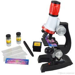 Toptan satış Çocuk mikroskop, bilimsel deney öğretim yardımcıları 1200 kez set, çocuk bilim beşiği, fen eğitici oyuncaklar, çocuk