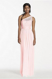 $enCountryForm.capitalKeyWord NZ - High Quality But Cheap Custom Made 2017 NEW! Long One Shoulder Corded Lace and Mesh Dress Skirt Style F17063 Bridesmaid Dress