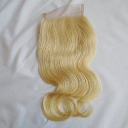 $enCountryForm.capitalKeyWord Australia - #613 Blonde Peruvian Body Wave Lace Closure Bleached Knots Free Part Brazilian Indian Malaysian Virgin Human Hair Top Closure With Baby Hair