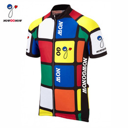 custom 2017 cycling jersey men tour clothing bike wear nowgonow Retro Jersey  pro racing ropa ciclismo mtb road bicicleta Color squares funny 3c82188b6