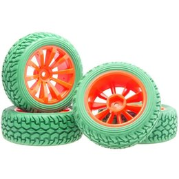 Electric Road Cars UK - RC 604-8019G Rubber Tires & Plastic Wheel Rims 4P HSP HPI 1 10 On-Road Rally Car