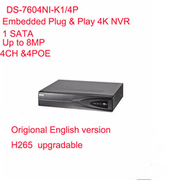 $enCountryForm.capitalKeyWord Canada - Hikvision English Version DS-7604NI-K1 4P Embedded Plug & Play 4K NVR Support H.265 Up to 8MP 4POE 4CH Network DHL Free Shipping