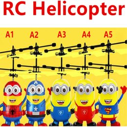 Wholesale Toys Helicopter NZ - Led toy RC Helicopter Flying Induction LED Noctilucent Ball Quadcopter Drone Sensor Up grade infrared Induction flying Children Toys