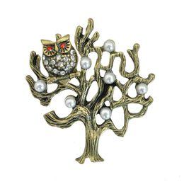 All'ingrosso- Lucky Vintage Civetta in metallo spilla stile antico foresta stile Mori ragazza bavero spilla colletto accessorio