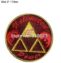 "$enCountryForm.capitalKeyWord Australia - 3"" Zelda Triforce Patch shoulder Movie TV Series Cosplay Costume Embroidered Emblem iron on badge Halloween diy"
