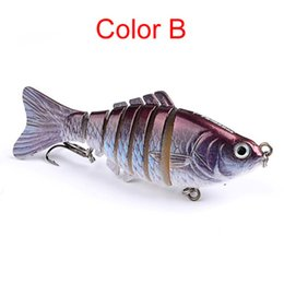Swimbait Crankbait Hard Bait Canada - Fishing Wobblers Lifelike 7 Segment Swimbait Crankbait Hard Bait Fishing Lure 10cm 15.3g Isca Artificial Fishing Tackle