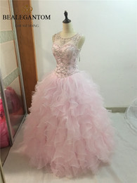 $enCountryForm.capitalKeyWord NZ - 2017 Sexy Pink Backless Crystal Ball Gown Quinceanera Dresses with Sequined Beading Plus Size Sweet 16 Dresses Vestido Debutante Gowns BQ35