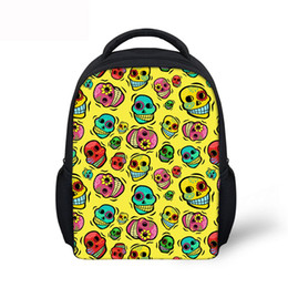 Chinese  12 Inch Emoji Skull Backpacks Halloween Special for Teenagers Boys and girls schoolbags Customized mochila infantil Fun Tablet Bags manufacturers