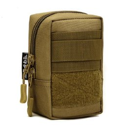 Hiking accessories online shopping - Tactical Equipment EDC Molle Accessories Multi Function Tactics Waist Pack Waterproof Nylon Phone Bag