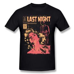 Night Shirt Men Canada - Black t shirt for man sexy 2d printing short shirts snug cotton fabric short sleeve tee shirt last night free shipping