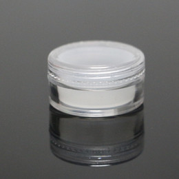 bho box UK - 5ml acrylic silicone jar clear plastic wax container silicone bho oil liner plastic storage box for cosmetics silicone dabber