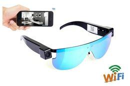 Mini caMera surveillance online shopping - WIFI sunglasses Camera HD P mini IP camera Glasses Eyewear Camera Video Recording wireless Security surveillance Network Cam
