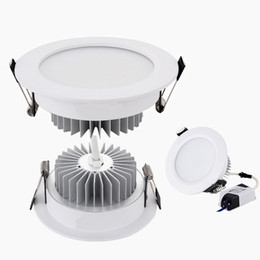 China Silver White Shell Led Down Lights 9W 12W 15W 18W Dimmable Led Downlights Recessed Ceiling Light 110-240V cheap aluminum recessed ceiling lights suppliers