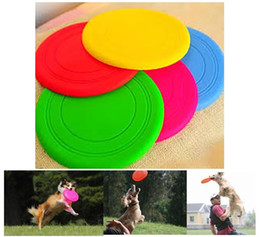 $enCountryForm.capitalKeyWord Canada - Wholesale Silicone Dog Frisbee Flying Disc Tooth Resistant Soft Puppy Outdoor Pet Dog Play Foldable Training Fun Fetch Toy free shipping