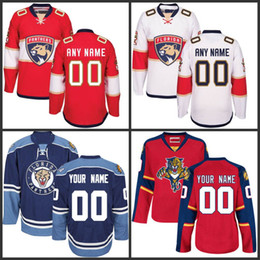 8f33bec21 Customized Men s Florida Panthers Jerseys Authentic personalized Hockey  Jerseys Any Number Any Name Embroidery Logos Top Quality