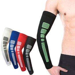 Discount tennis elbow support sleeve - Wholesale- 1 PC Crossfit Elbow Protector Pads Arm Brace Support Basketball Tennis Breathable Sleeve Straps Sports Paddin