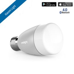 Xiaomi yeelight bulb online shopping - Original Xiaomi Mi Yeelight Bluetooth Smart Blue ii Remote Control Light E27 RGBW Color Smart Home illumination LED Bulb