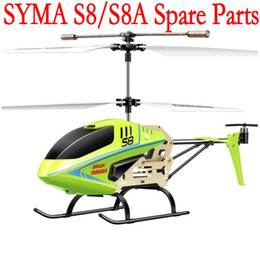 Boy Toys Helicopter NZ - SYMA S8 S8A Main Blades USB Cable Charger Bar Mini rc R C Radio Control Helicopter Heli Copter Boy Toys Spare Parts Access Accessories