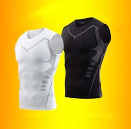 Men Gym Clothes Canada - gym clothes men Sports tights stretch high quality training clothes quickly dry breathable male short - sleeved T - shirt fitness vest